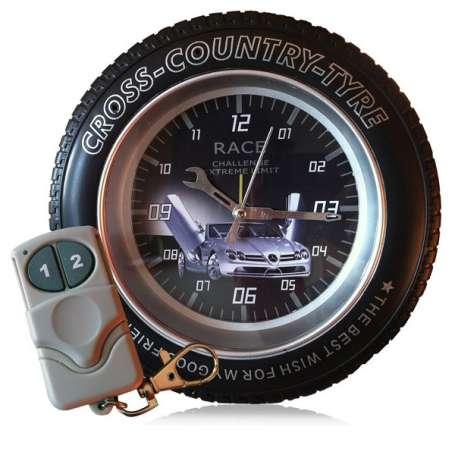 Réveil camera espion en forme de roue cross country 4Go télécommandé