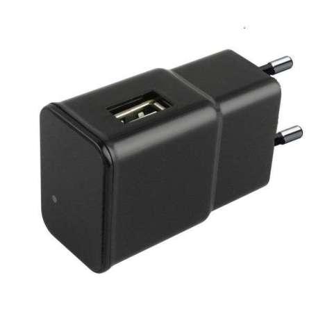 Chargeur secteur USB camera espion 1080P IP WIFI à détecteur de mouvement noir