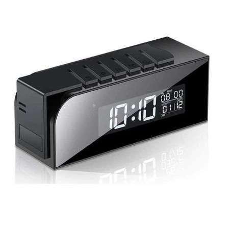 Réveil camera espion Full HD 1080P Wifi vision de nuit carré