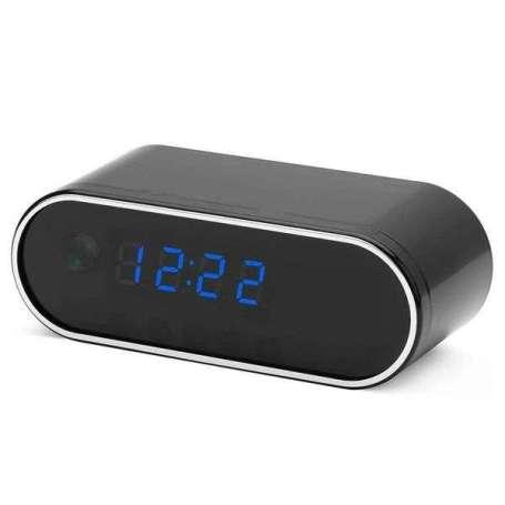 Réveil à caméra espion FHD 4k Wifi vision à infrarouge noir