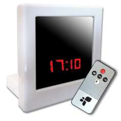 Réveil camera espion carré télécommandé