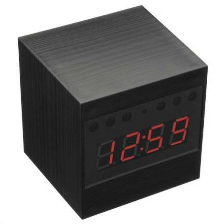 Réveil camera espion HD 1080P télécommandé cube