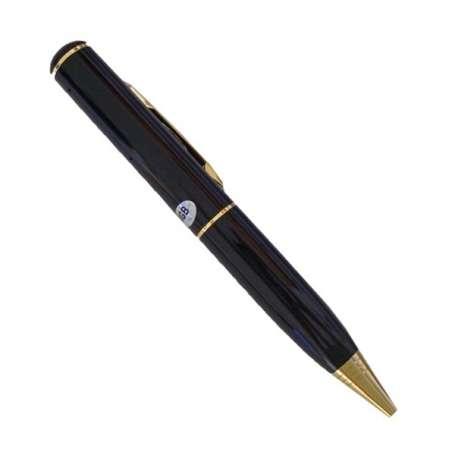 Stylo caméra espion et microphone 4Go de mémoire noir et doré