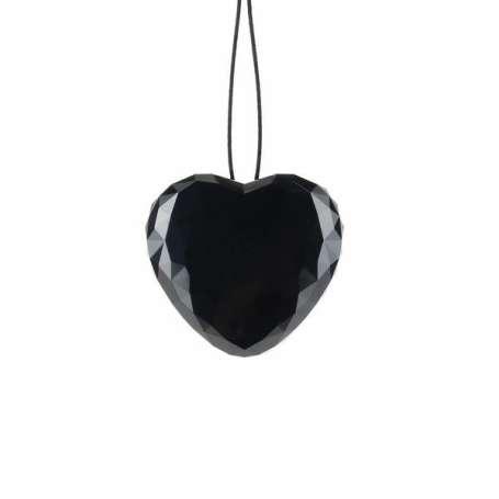 Pendentif cœur noir à mouchard 8Go enregistreur vocal