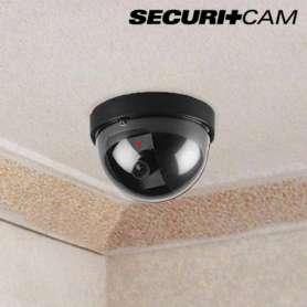 Caméra factice dôme à piles avec lumiere LED