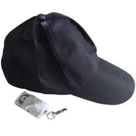 Casquette noire caméra espion 4Go avec télécommande