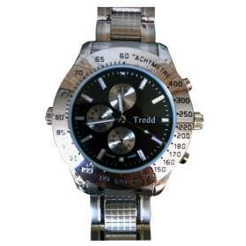 Montre caméra espion 4Go de mémoire bracelet en métal quadrillé