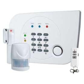Système d'alarme avec télécommande détecteur et capteur de mouvement