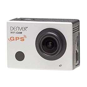 Caméra de sport blanche connectée avec coque de protection wifi