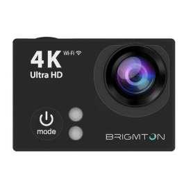 Caméscope de sport Full HD 4k noir avec écran 2'' et connectivité Wifi