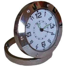 Horloge de table ronde avec surveillance caméra cachée