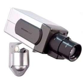 Caméra de surveillance factice à détecteur de mouvement et voyant LED
