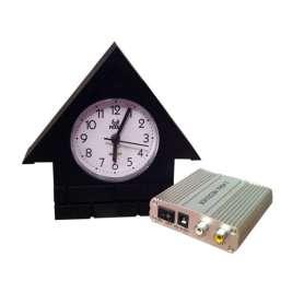 Horloge en forme de maison avec caméra de surveillance avec récepteur (sans fil)