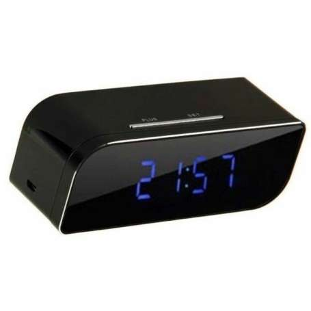 Réveil caméra espion sans Fil HD 1080P Wifi vision infrarouge