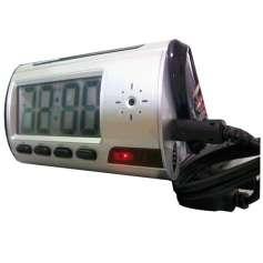 Réveil digital camera espion écran bleu télécommandé