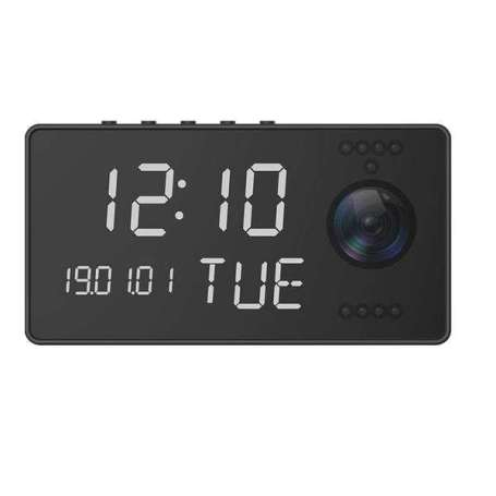 Réveil camera espion Full HD 1080P Wifi audio bidirectionnel et vision de nuit