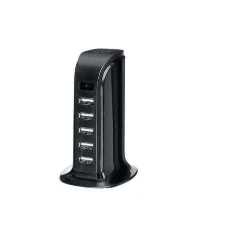 Chargeur HUB Secteur 5 USB camera espion 1080P détection de mouvement