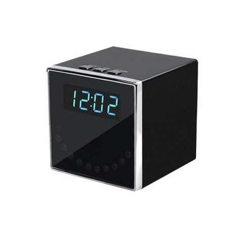 Réveil camera espion haute définition 1080P Wifi vision nocturne cube